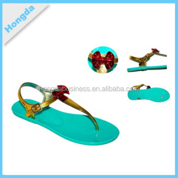New Design Ladies Slippers Plastic Jelly Shoes Women