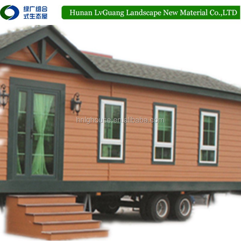 Prefab container homes Simple prefab log cabins wood 40ft modern house for sale