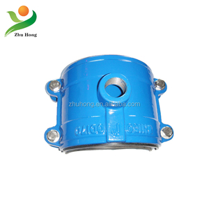 Ductile Iron Tapping Saddle for pvc pe pipe restrained coupling pipe tee joints