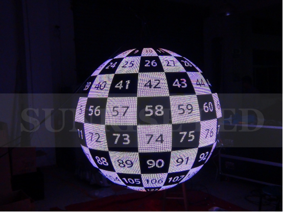 New high electronic technology for the indoor science museum exhibition led sphere ball movie screen