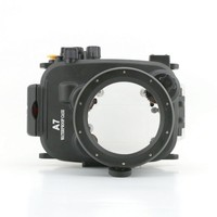 A7 shenzhen Meikon Newest waterproof digital housing for Sony camera A7 diving case,with leak alarm designed