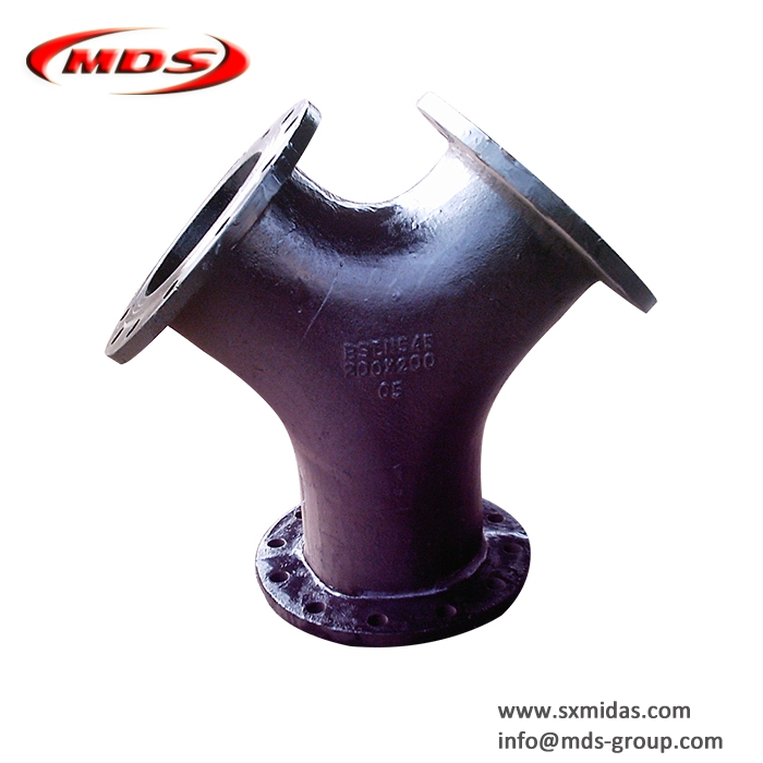 Ductile Iron All Flanged Y Tee Pipe Fitting