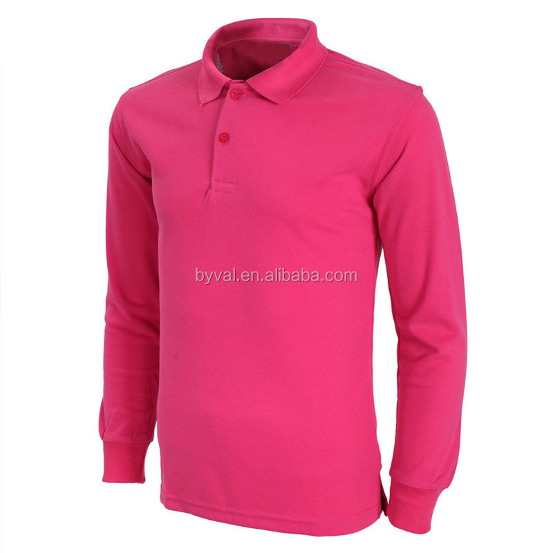 Wholesale polos blank purple polo shirts long sleeve made for Where to buy polo shirts cheap