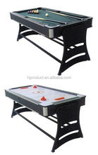 Swivel 2in 1 Function Multi Game Sports Table: Pool and Hockey Game Tables