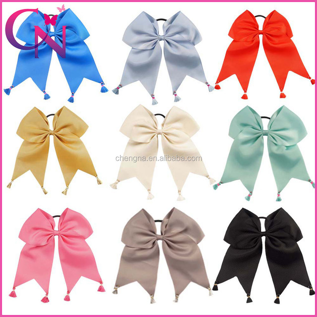 Initial Cheer bow, Holiday Cheer bow, 7 inch Cheer Bow HBW-16062101-6