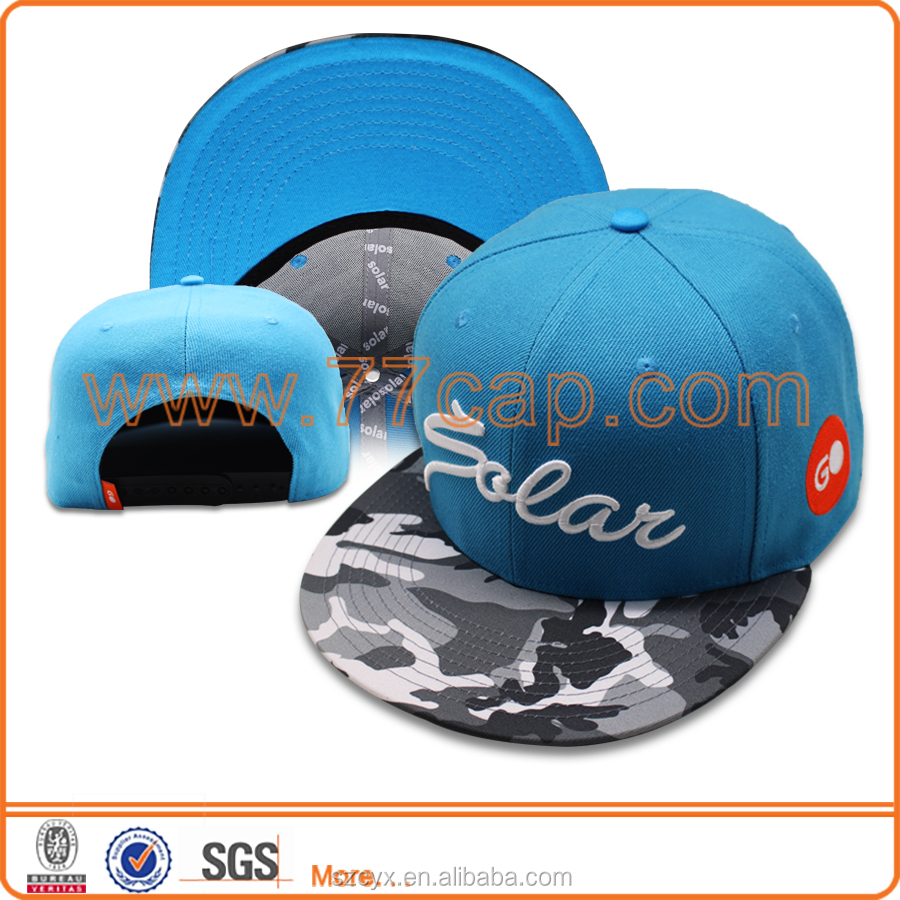 2017 OEM Flat Brim Baseball Caps Camo Visor Hats Contrast Color Hats