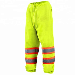 high visibility mesh trousers reflective work safety pants