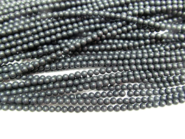 5strands 3mm agate gemstone black jet agate stone round ball hematite crab matte jewelry loose beads