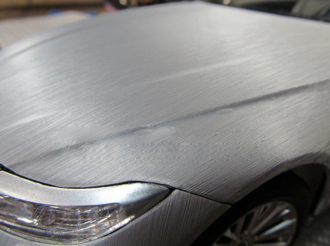 Metallic Brushed Vinyl Wrap Car Body Sticker Brushed