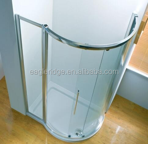 australia compact 5mm fiberglass shower enclosure made in china