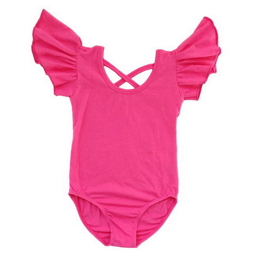 4c5d90e1 Get Quotations · Kid Girl Flutter Ruffle Gymnastics Dance Toddler Ballet  Leotard Skirt Tutu 3-14Y