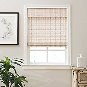 Buy Single Piece 21 X 74 Inch Length White Bamboo Blinds