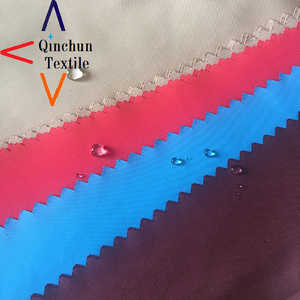 factory soft dull poly pongee fabric 300T lining waterproof material fabric textile