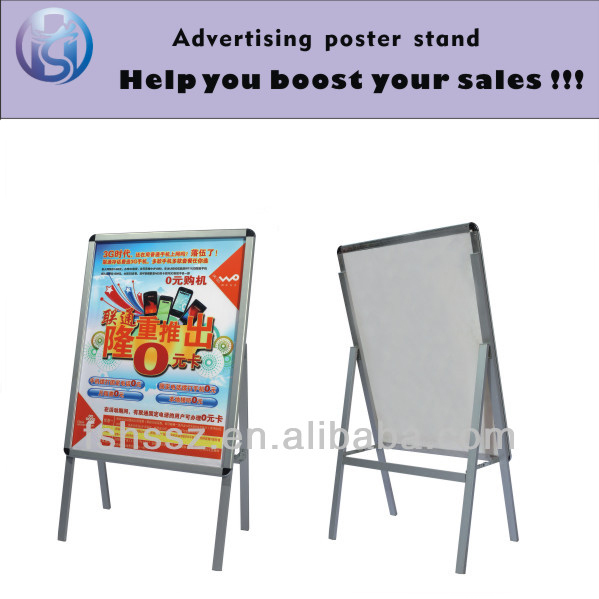 aluminum poster frame,outdoor sign frames,advertising board stand HS-H30