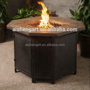 36 Hexagonal Outdoor Gas Fire Pit Table Buy Gas Fire Table