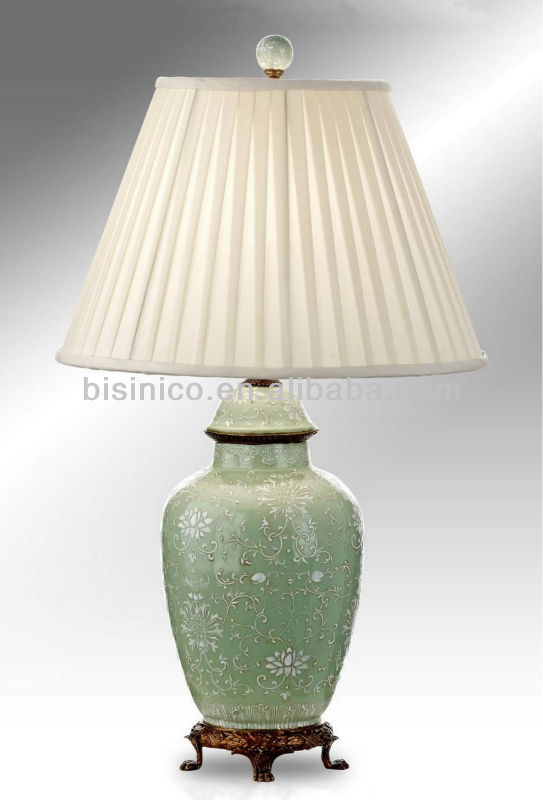 Hand painted chinese porcelain table lamp with shadebronze base hand painted chinese porcelain table lamp with shadebronze base earthen jar shape porcelain table lighting desk lamp buy table lamp with base switch aloadofball Images
