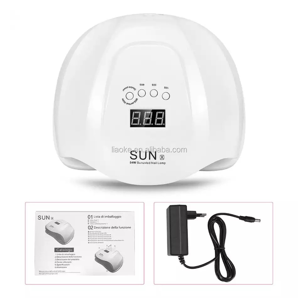 Hotsale 54W LED Nail Lamp Double Hands LED Lamp SUN X 54W Nail Dryer