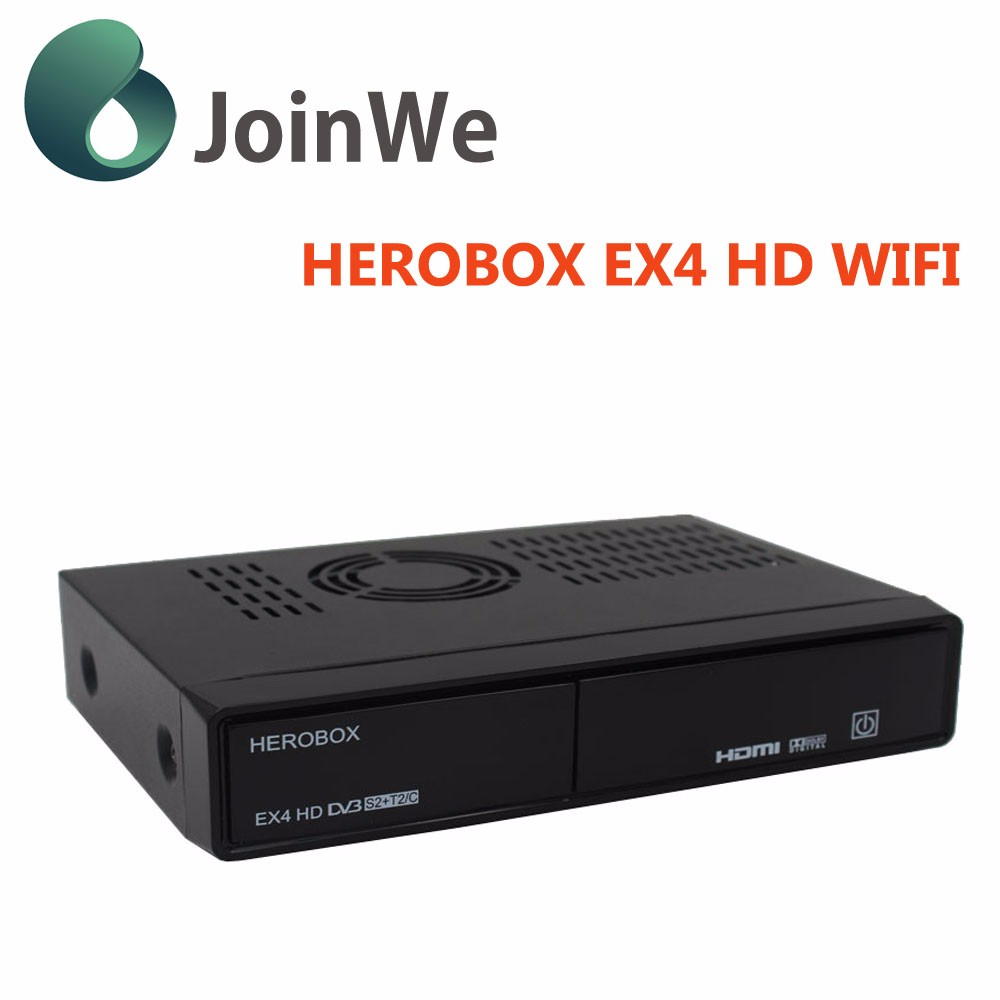 New generation HEROBOX EX4 HD Wifi Original DVB-S2 Tuner + 109A T2/C Tuner Best BCM7362 Decoder EX4 HD HEROBOX
