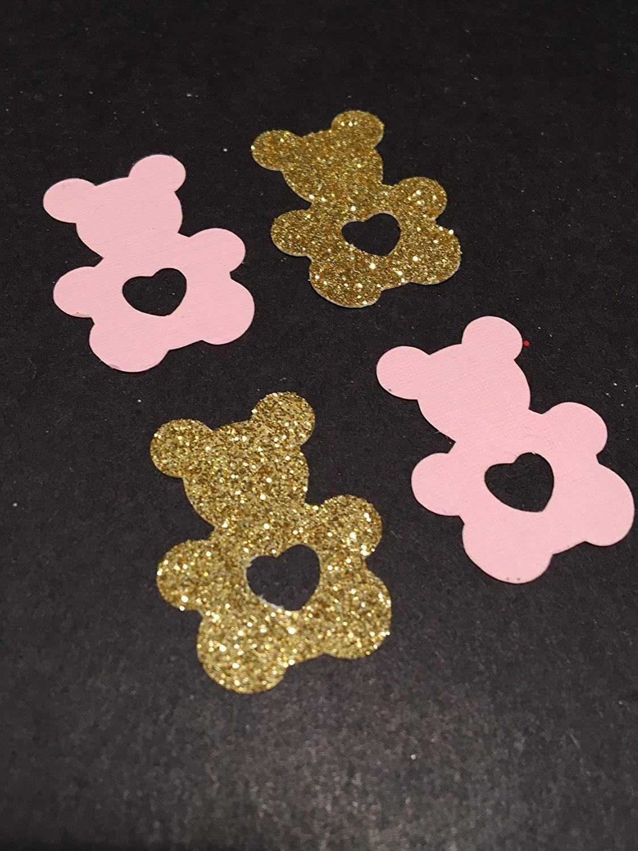 Bear Confetti, Gummy Bear Confetti, Teddy Bear Confetti, Pink + Gold Party, Baby, Bridal Shower Confetti, Valentine's Day Confetti, Birthday