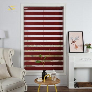 Vertical night and day blinds window zebra fabric roller blinds