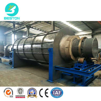 BESTON BST-10 1-2t/h coconut charcoal small carbonization furnace charcoal machine