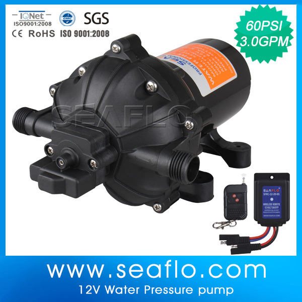 Mini High Pressure Electric 12V 3.0GPM Diaphram Pump