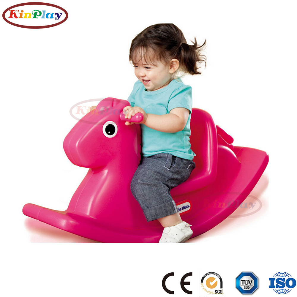 KINPLAY brand customize plastic child toy rocking horse