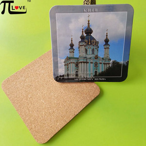 Durable using low price hot sale cardboard coaster with cork