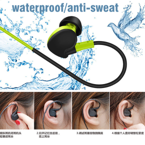 Stereo Earphones Sport Running  Super Bass Headset Waterproof Earbuds Handsfree With Mic
