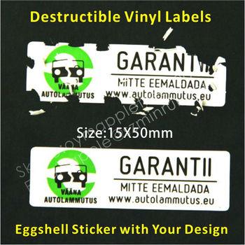 Adhesive Jar Tamper Proof Seal Sticker Destructive Safety