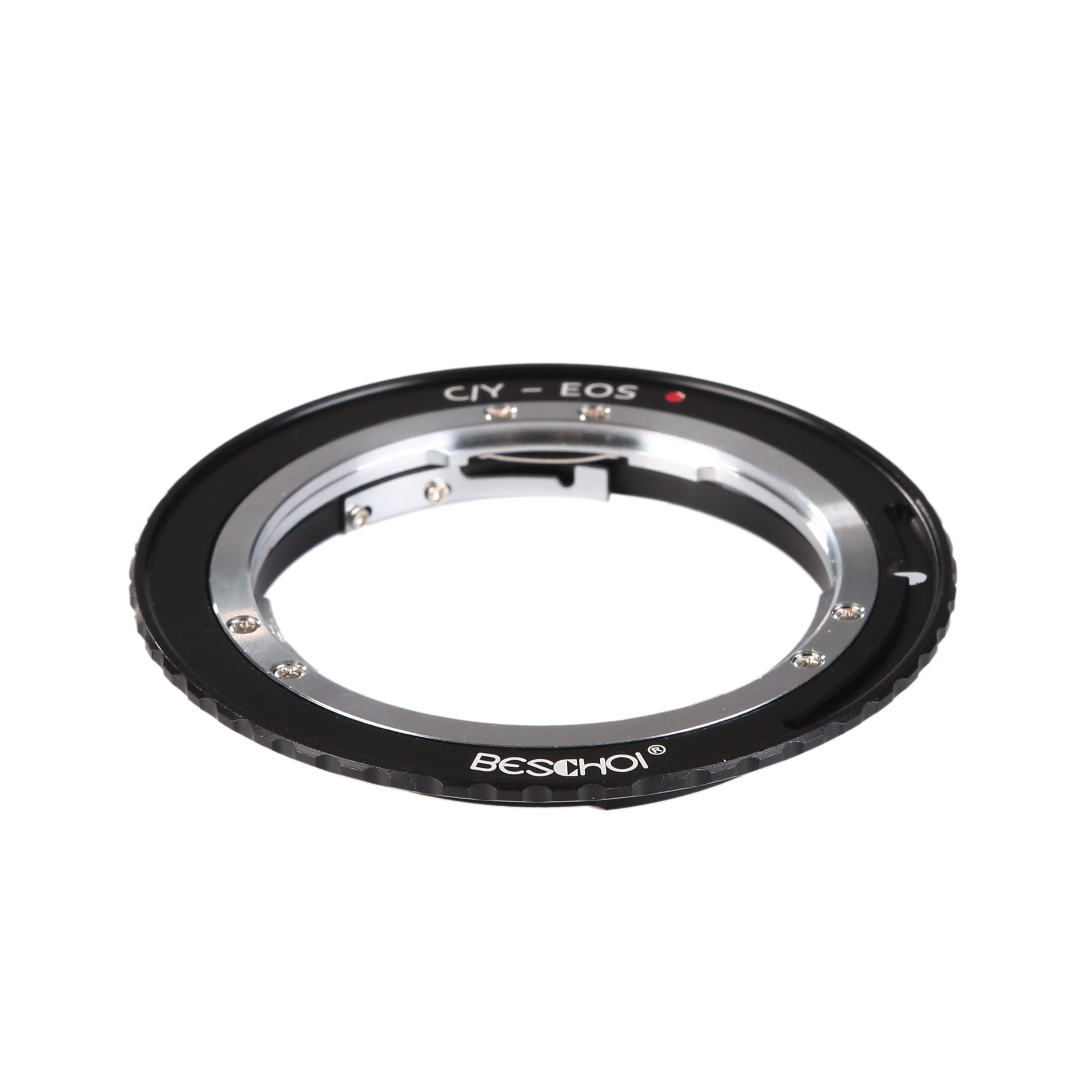 Beschoi Lens Mount Adapter, Contax Yashica C/Y Lens to Canon EOS EF Adapter, for Canon EOS 1D, 1DS, Mark II, III, IV, 5D, Mark II, 7D, 30D, 40D, 50D, 60D, 70D, Digital Rebel T2i, T3, T3i, T4i, T5i