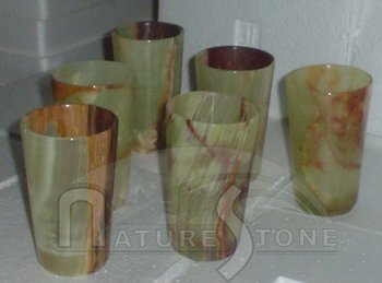 Marble & Onyx Glasses , Marble & Onyx Goblets, Wine Glasses, Jug Glasses, Pakistan Craft Products, Handicrafts, Pen Holders.