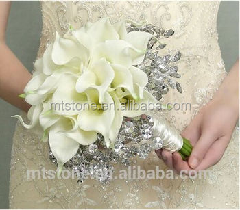 Wefound Elegante Weisse Hochzeit Brautstrauss Real Touch Mini Calla