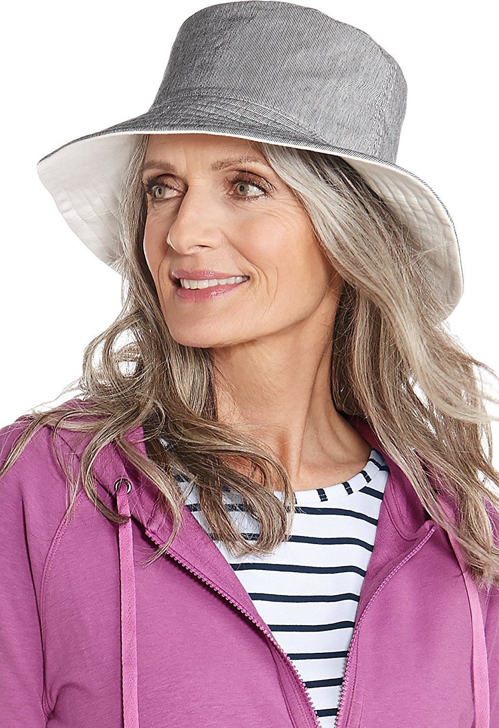 33a4f49bcc5 Buy Coolibar UPF 50+ Womens Reversible Bucket Hat in Cheap Price on ...