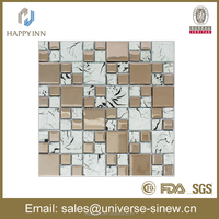 crystal glass tile backsplash plating glass mosaic glass wall tile