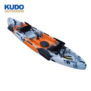 KUDO OUTDOORS 370m Fishing Kayak 2 Personas Seater With Paddle For Sale Malaysia