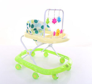 China company 2 in 1 baby walker with rocker / baby walker malaysia / modern metal baby walker with 8 swivel wheels