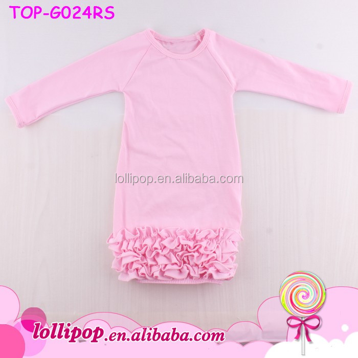 Knit 3 Layers Triple Icing Ruffle Bottom Infant Layette Gowns ...
