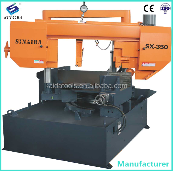 China SINAIDA Brand Doubld Column 45 degree angle cutter Machine Tool The band saw machine for sale