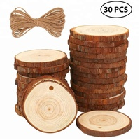 "Christmas Ornament Natural Wood Slices 2.4""-2.8"" Craft Wood kit Unfinished Predrilled Wooden Circles Great for Arts and Crafts"