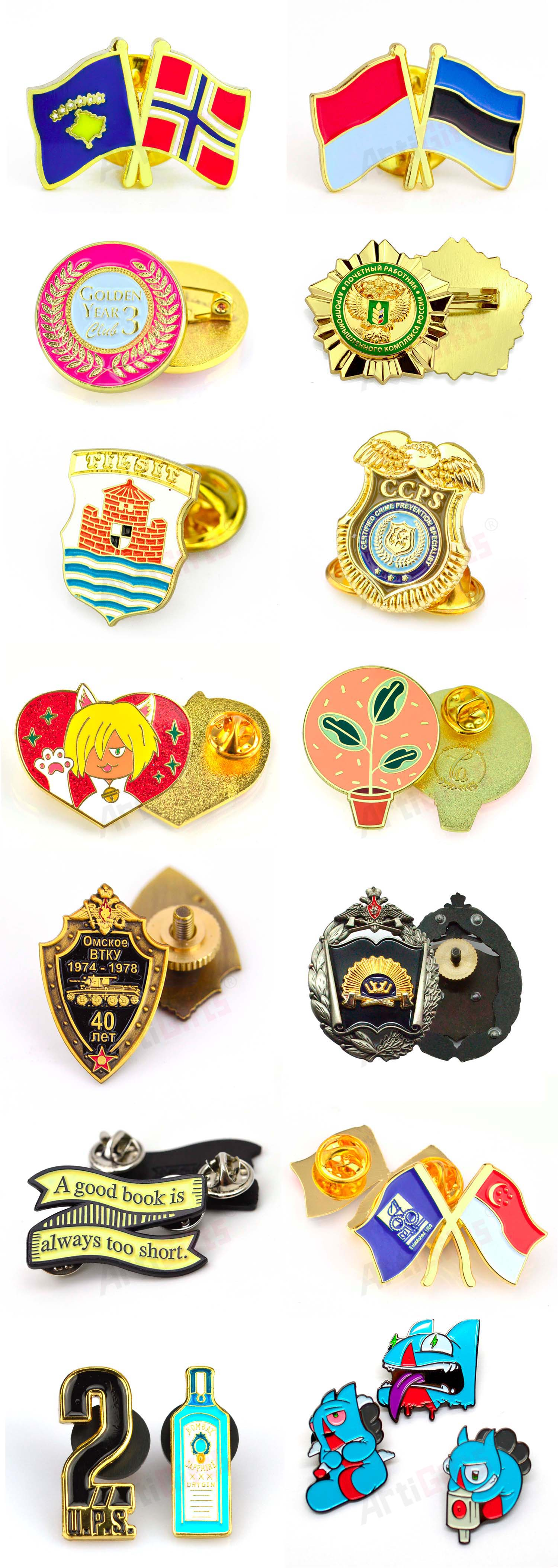 Hot selling custom hard enamel lapel pins