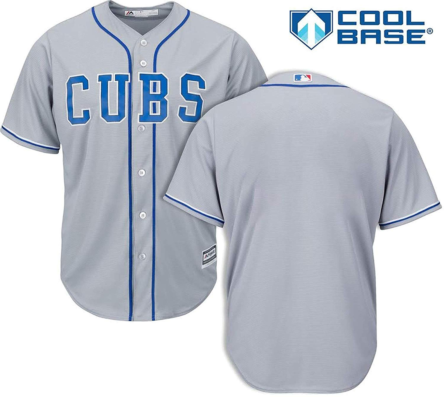 61b8a11fb Get Quotations · Outerstuff Chicago Cubs Blank Gray Youth Cool Base  Alternate 2 Replica Jersey (Large 14/