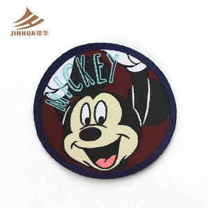 Custom Cheap Cartoon Design Cut Woven Label Clothing For Kids