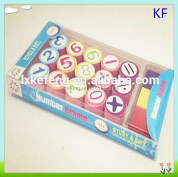 EVA 0 9 Digit Number Kid Rubber Stamp Set