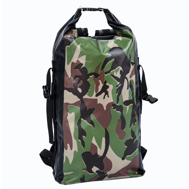 Fashionable camouflage Duffle Bag Waterproof Dry Bag dry backpack for outdoor