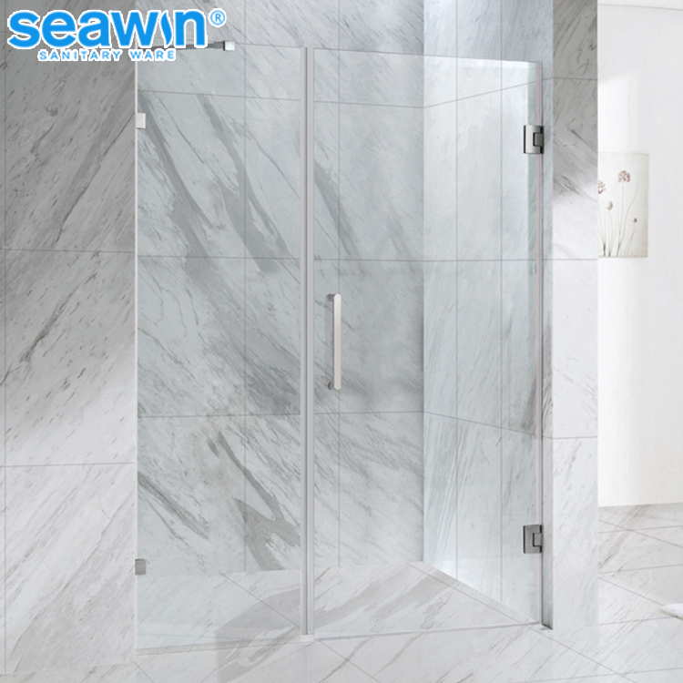 Modern Custom standard complete portable frameless pivot hinge 10mm tempered glass shower door