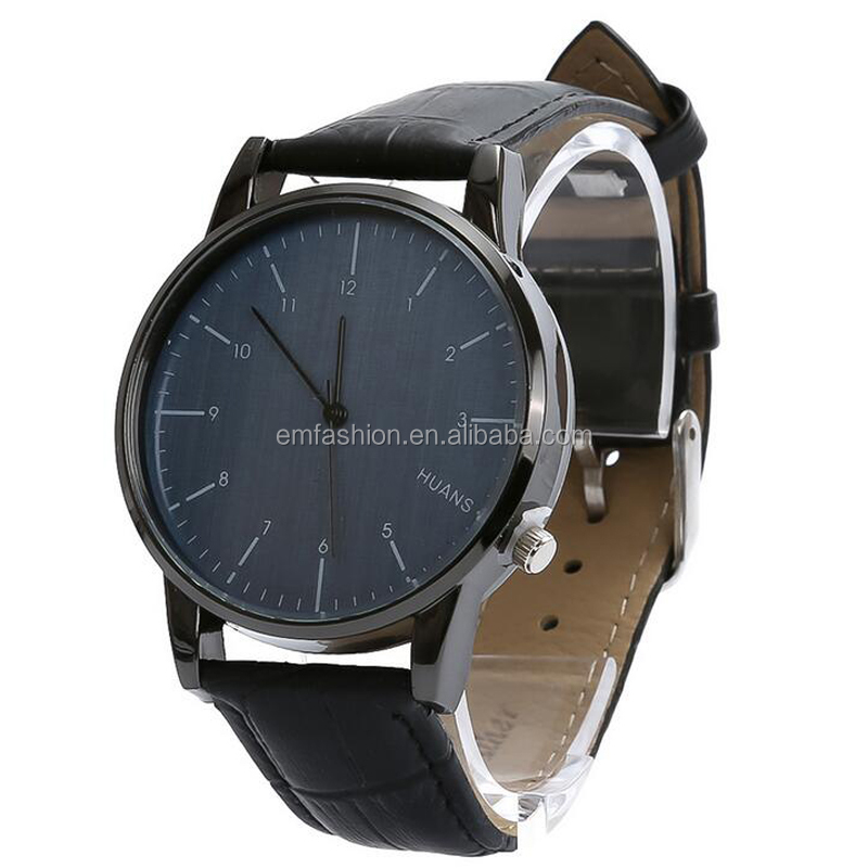 Fashion Simple Classic Leather Wristband Men Watch