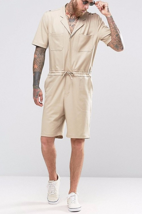 New Arrival Shorts Boiler Suit with Military Styling Shorts Fashion Shorts for Men