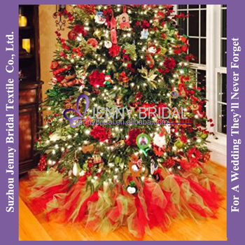 Cts026a 36 Cute Angel Colorful Tulle Christmas Tree Skirt