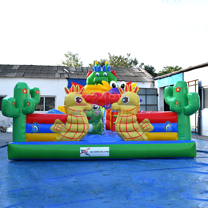 baby bouncer,inflatable fun city ,attractive animals inflatable city playground from zzpl factory